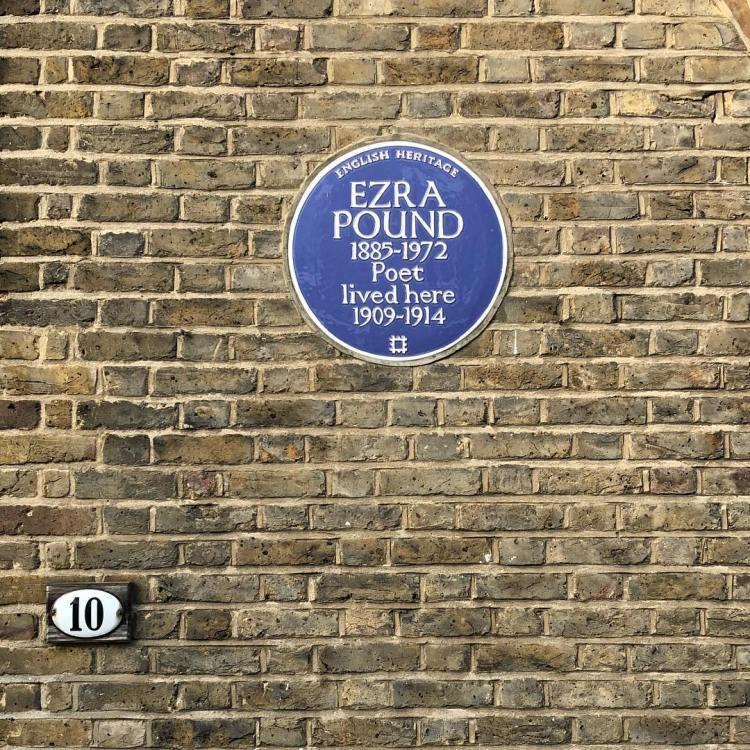 Ezra Pound's pad at 10 Kensington Church Walk