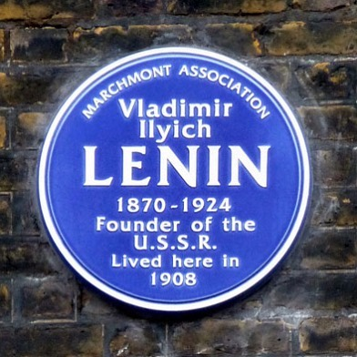 Lenin and Virginia Woolf were almost neighbors. She lived at 46 Gordon Square from 1904 till 1907 and he lived around the corner at 36 Tavistock Place in 1908.