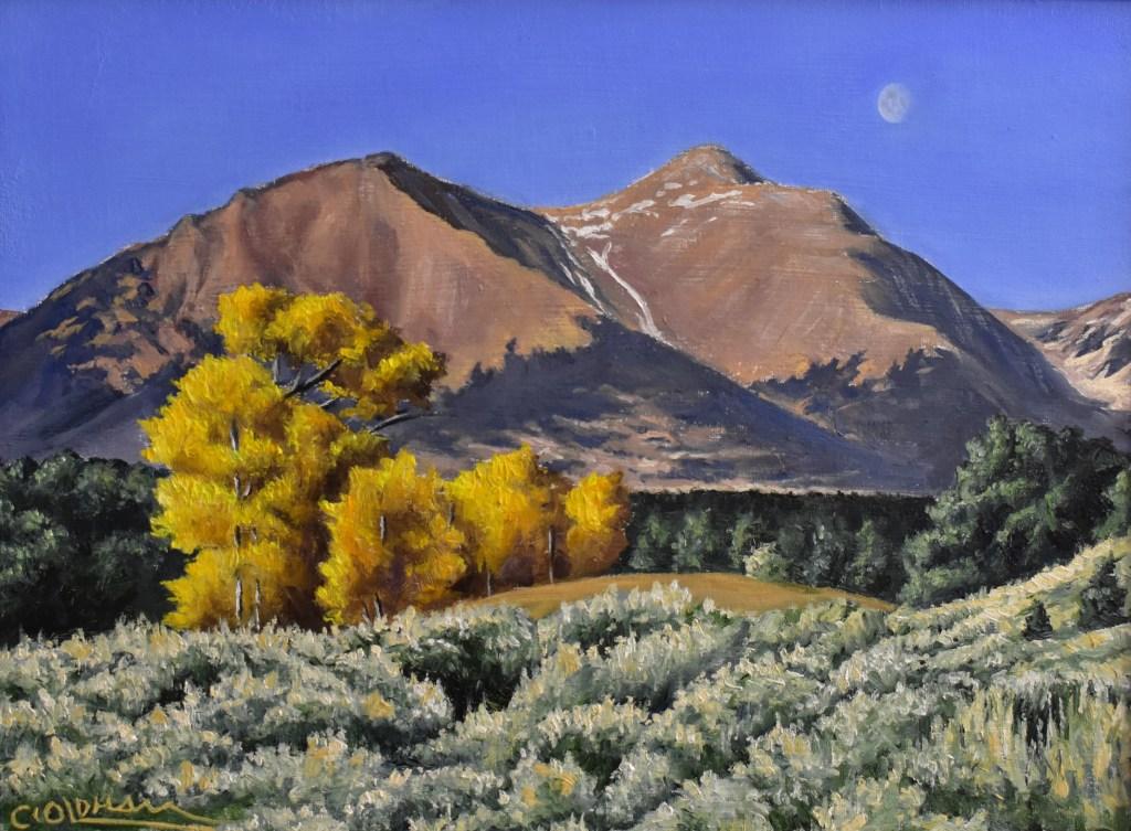 oil painting of Mt. Shavano, Colorado fourteener