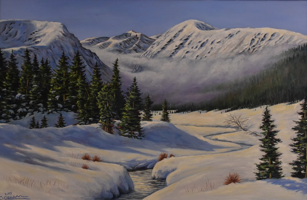 oil painting of Quandary Peak, Colorado fourteener