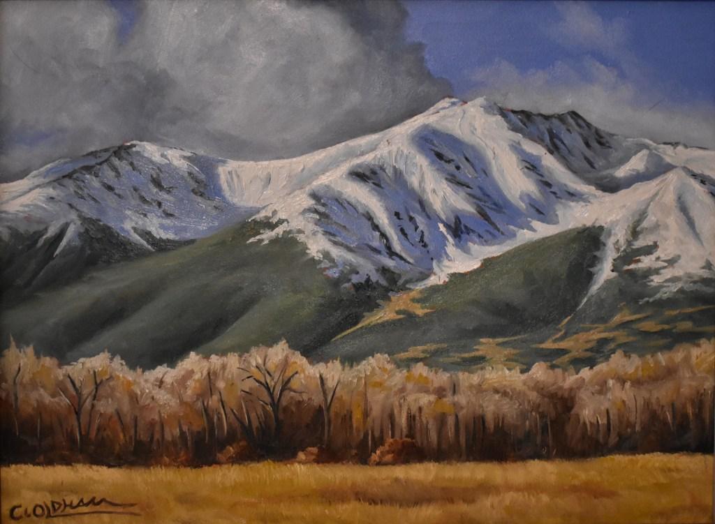 oil painting of Mt. Princeton, Colorado fourteener
