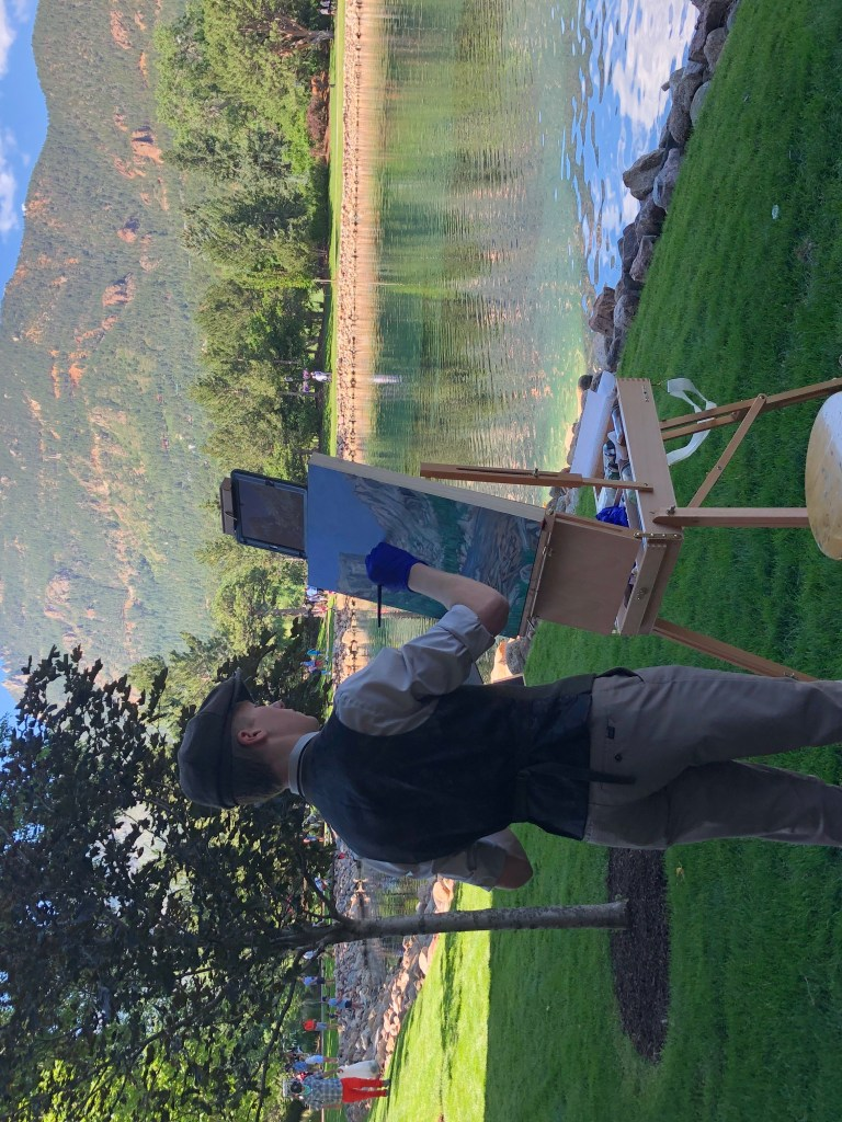 Cody painting at the Broadmoor