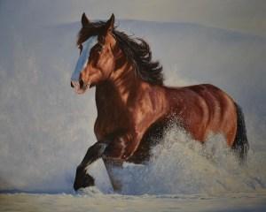 """Morning Thunder"" 48"" x 60"" oil on canvas"