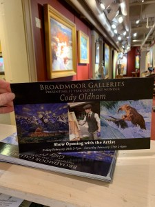 brochure for Broadmoor one-man show Feb 2021