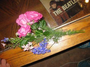 Josh's bouquet he made me