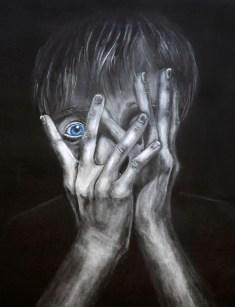Hannah Eaton, Through the Cracks, Charcoal
