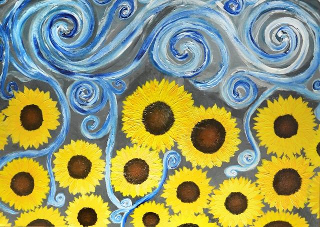 Winterised Summer by Alexandra Beaver - Acrylic Painting
