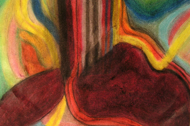 Life by Chris Fanslau - Oil Pastel on Paper