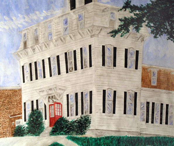 Our School by Hiroyuki Matsuzawa - Watercolor on Paper
