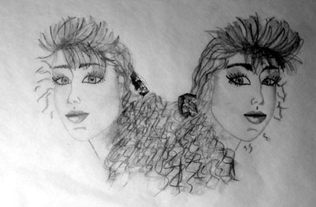 Self-Portrait by Shelle Banks - Pencil on Transparent Paper