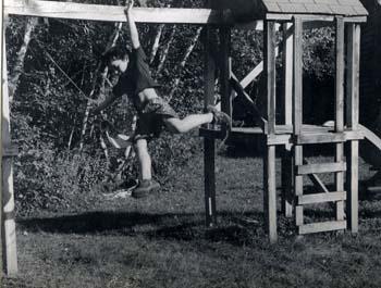 Taking a Leap by Jenelle Beaulieu - Analog B & W Photograph