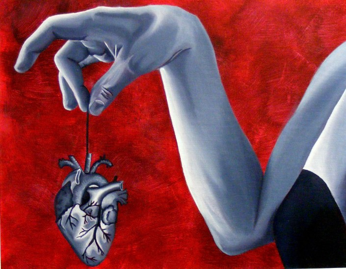 Untitled (lHeart) by Courtney Turcotte - Oil on Canvas Board