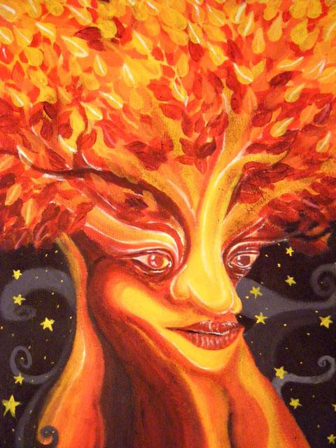 Wisdom Within by Catrina Sourisak - Acrylic on Canvas Board