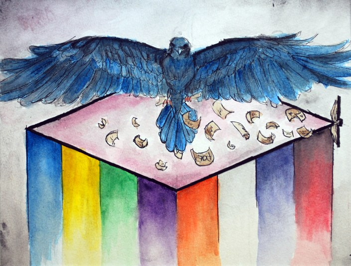 Dross by Shaun Stevens - Watercolor and ink