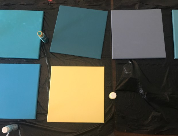 Painted Squares: Drying