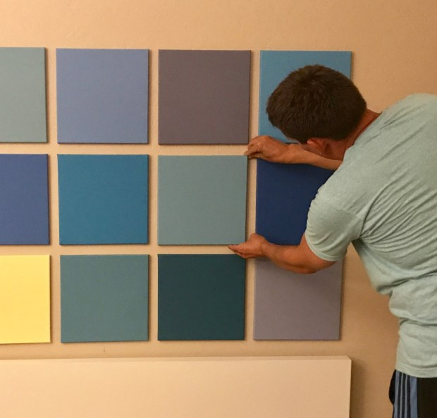 Painted Squares: Hanging up