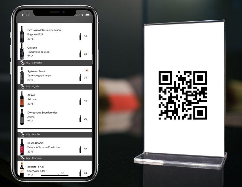 Covid19 Carte QRCode restaurant iPad