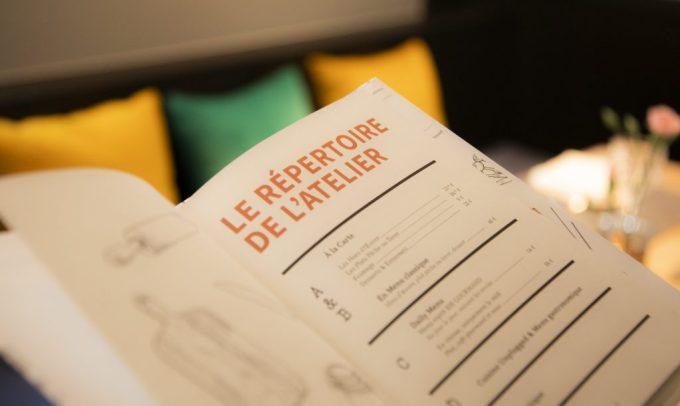 Atelier Windsor Luxembourg carte vins tablette iPad