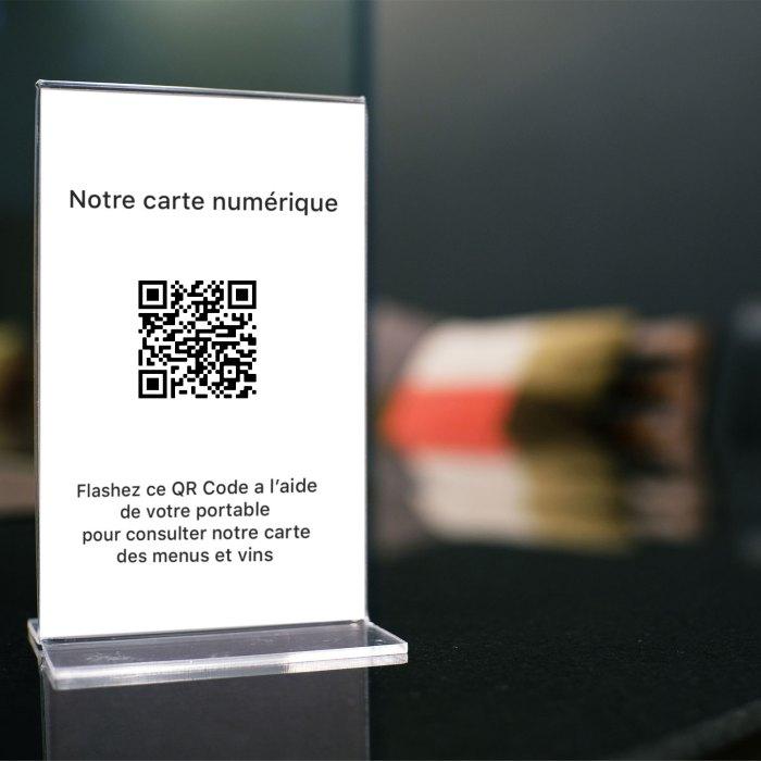 QR Code restaurant carte menus vins