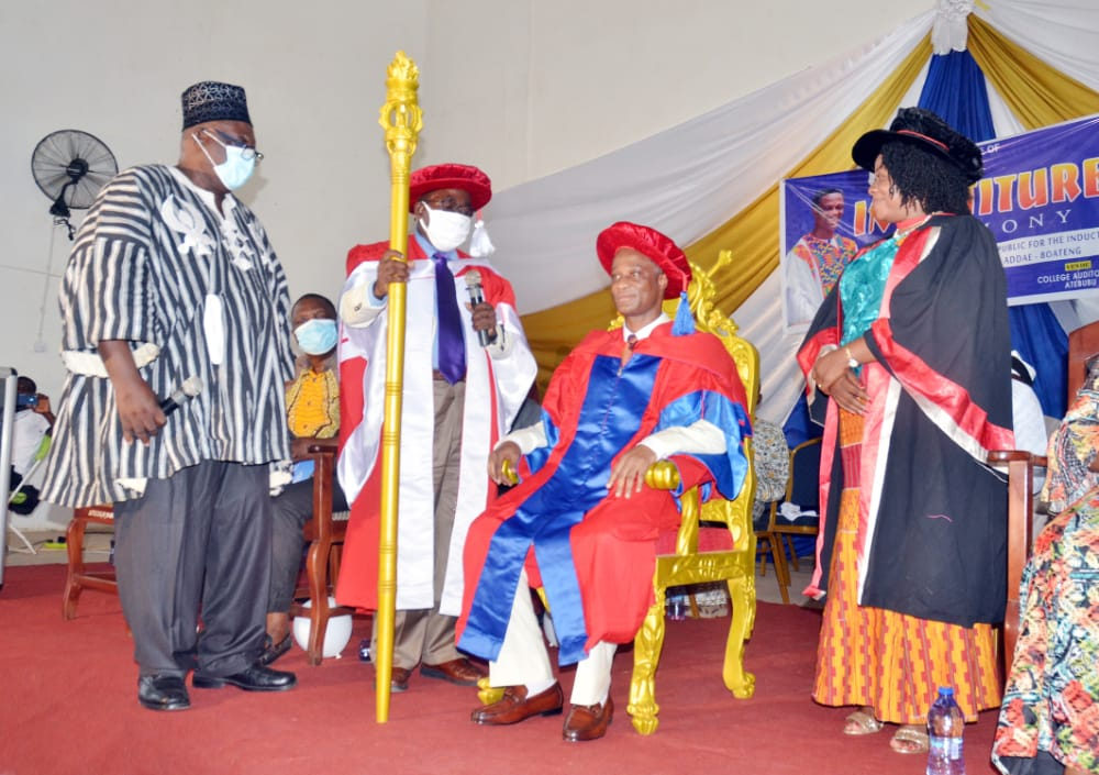 Dr. Samuel Addae-Boateng Inducted As 11th Principal of Atebubu College of Education