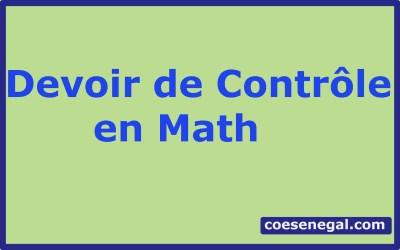 Devoir de Contrôle en Math :A Télécharger Gratuitement en (PDF)
