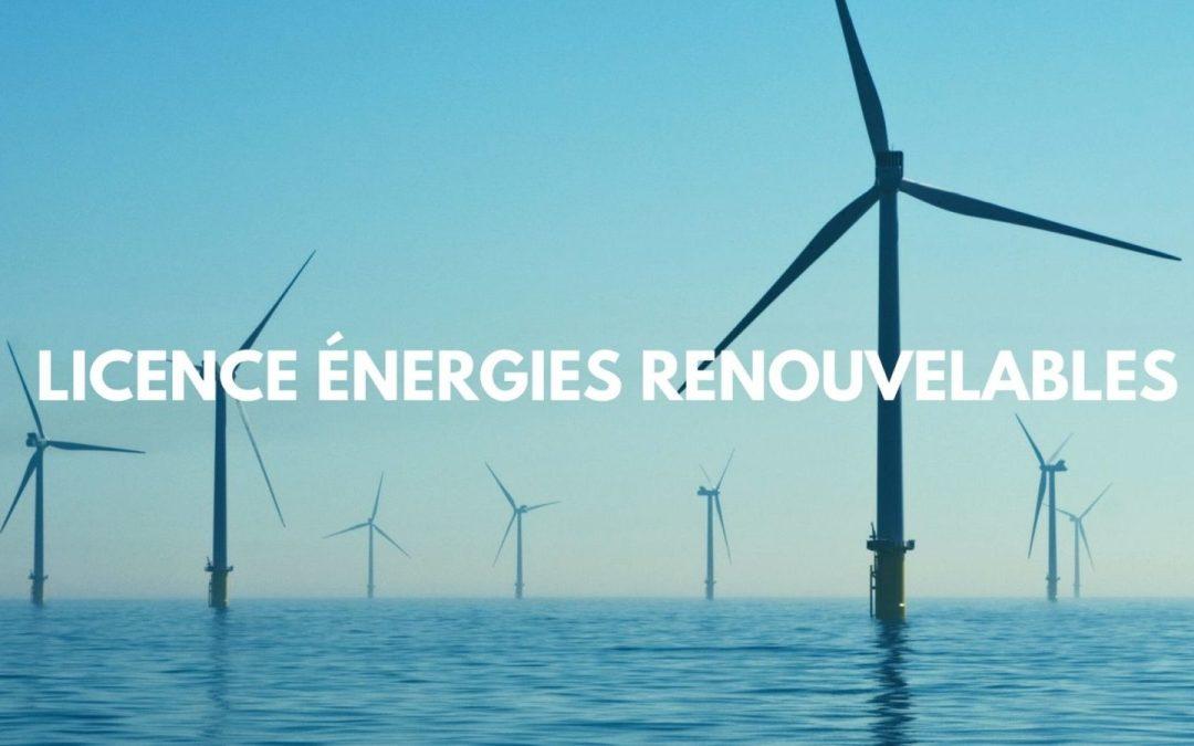 Appel a candidature Licence Pro en Energies renouvelables et efficacite Energétique