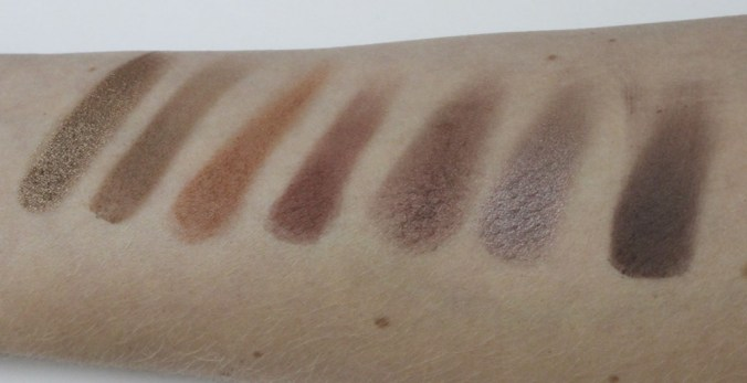 7 shades of brown_swatches_coeurdelisa