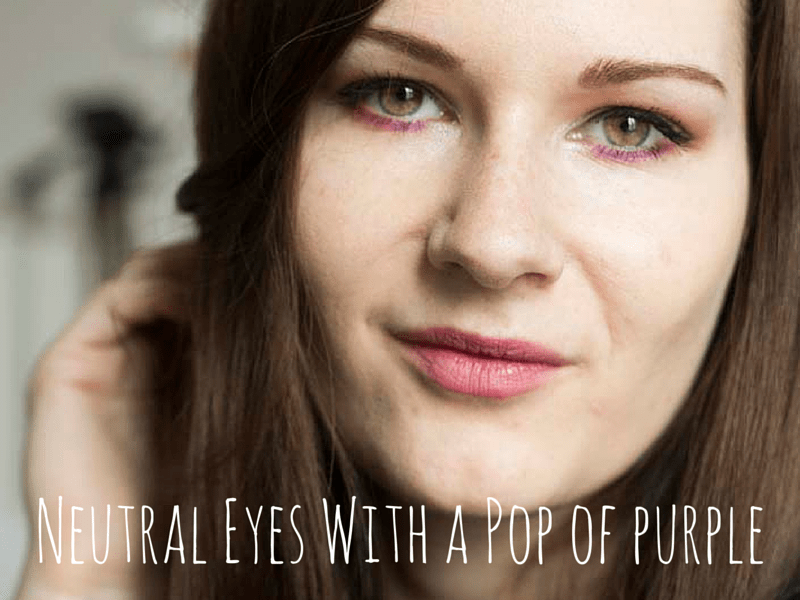 Neutral Eyes Pop Of Purle - Wannabelike - coeurdelisa