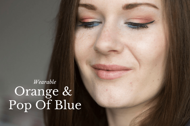 Wearable Orange & Pop Of Blue