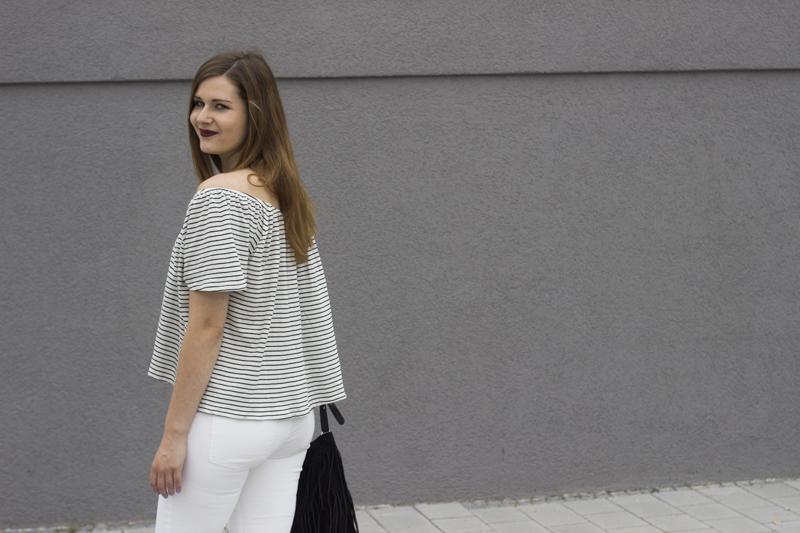 weiße Hose off shoulder titel - coeurdelisa