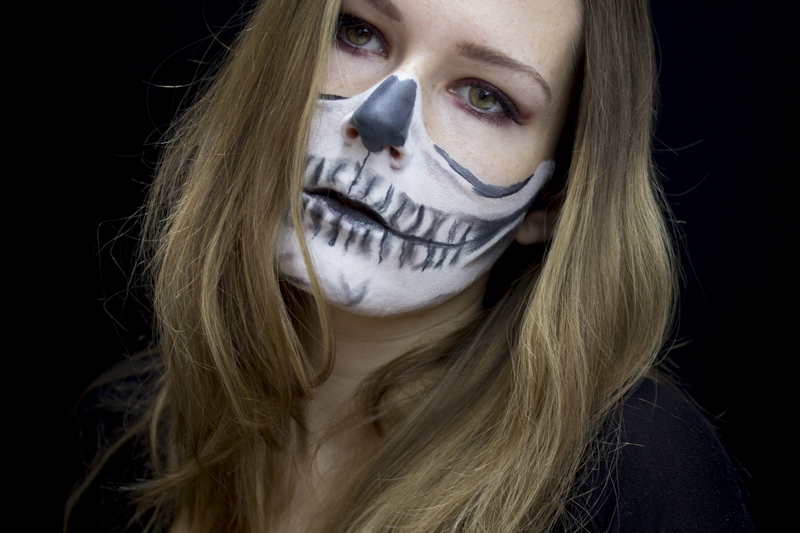 Halloween Skull Makeup Nachgeschminkt - coeurdelisa