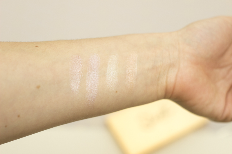 Sleek Highlighting Palette - Swatches - coeurdelisa