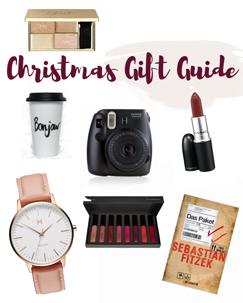 christmas gift guide polaroid mac diva sleek zoeva mvmt