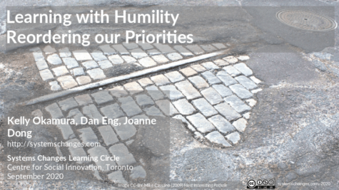 Learning With Humility: Systems Thinking and Reordering Priorities, Global Change Days 2020/10/22
