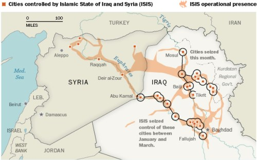 ISIS territories