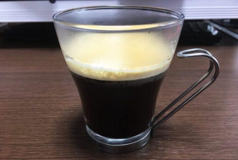 目盛り4で入れたドルチェグストのコーヒー