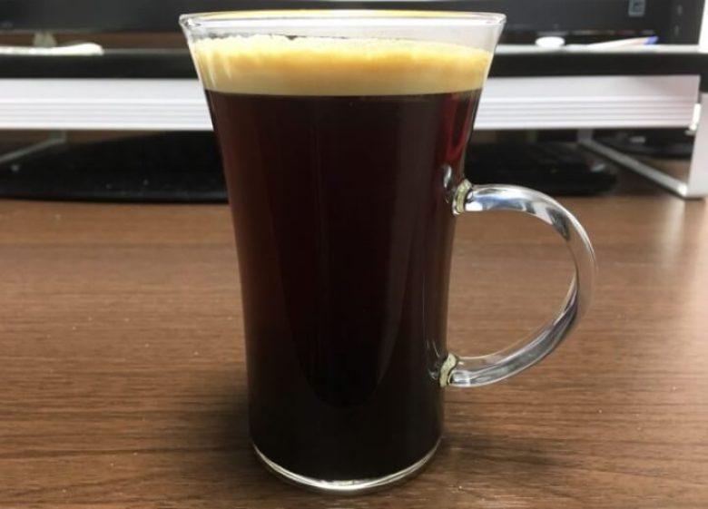 目盛り7で入れたドルチェグストのコーヒー