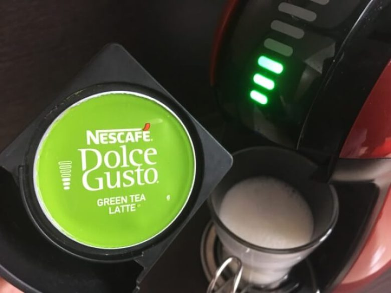 抹茶カプセルをセット