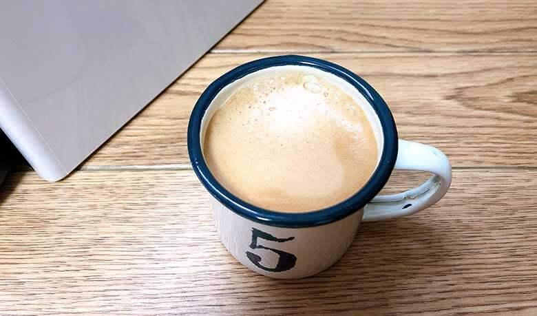 ネスプレッソで淹れたコーヒー