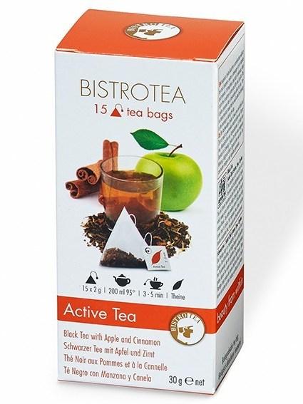 Juodoji arbata ACTIVE su obuoliais ir cinamonu (15 maišelių)