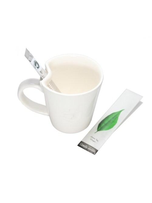 Japoniškas glazūruotas puodelis su specialia ausele arbatos lazdelei Nr.97