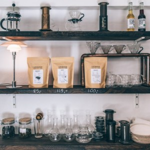 how to style a coffee bar
