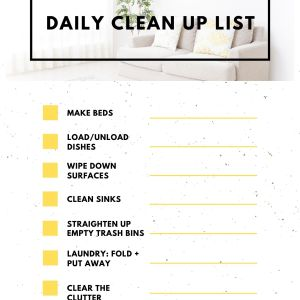 Daily Clean Up List