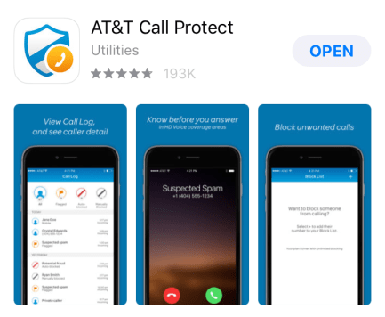 AT&T Call Protect Stop Spam Calls
