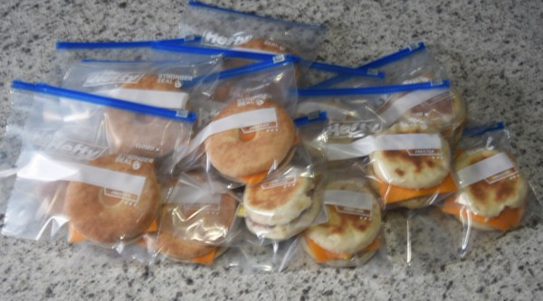 Freezer Breakfast Sandwiches