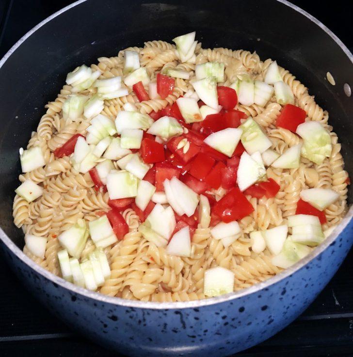 Easy Pasta Salad Cooking