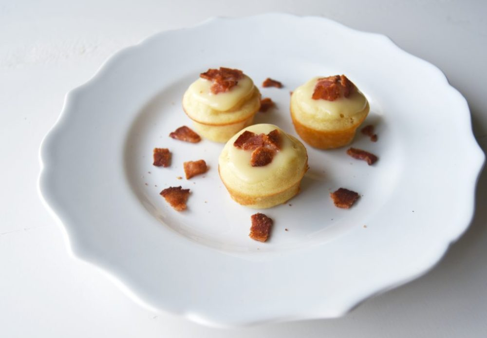 Pancake Bites with Maple Bacon