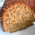 piece of banana bundt cake