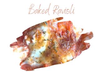 baked ravioli in dish