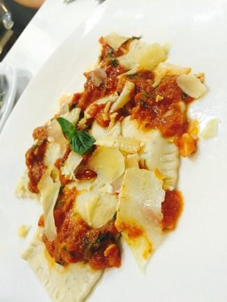 Ricotta, Pecorino and Parmesan Ravioli